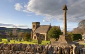 stock photo of manor  - The pretty Cotswold church at Snowshill - JPG