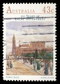 AUSTRALIA - CIRCA 1990: stamp printed by Australia, shows Town Hall, Adelaide, circa 1990