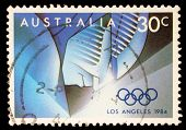 AUSTRALIA - CIRCA 1984: stamp printed by Australia, shows 1884 Summer Olympics, circa 1984