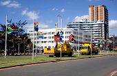 South African Flags Being Erected At Half-mast