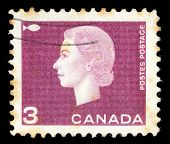 CANADA - CIRCA 1962: stamp printed by Canada, shows Queen Elizabeth II, circa 1962