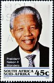 REPUBLIC OF SOUTH AFRICA - CIRCA 1994: A stamp printed in RSA shows Nelson Mandela circa 1994