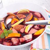 fruit sangria, punch