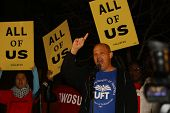 UFT President Michael Mulgrew speaks