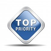 image of priorities  - top priority important very high urgency info lost importance crucial information icon stamp button or label - JPG