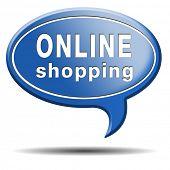 online shopping internet web shop webshop icon or button