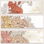 Floral Business Cards Set For Design