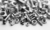 bolts, screws, selective focus photo