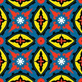 Suzani, vector seamless ethnic pattern