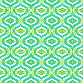 Pattern with Arabic motif in bright color
