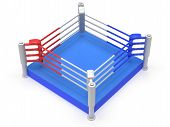 Boxing ring. High resolution 3d render