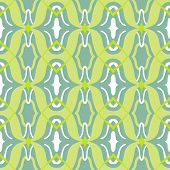Vector Arabic pattern in lime and jade green