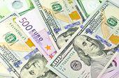 Cash Money Of Usa And Eu