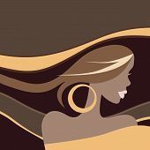 Beautiful Woman. Vector illustration.
