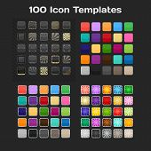 100 Plantillas de icono de la aplicación. Conjunto. Vector