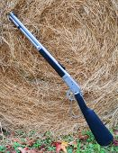 Rifle And Hay