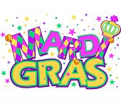Mardi Gras type treatment with crown