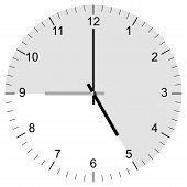 Clock Illustration Nine To Five