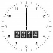 Clock Illustration New Years Eve 12:00