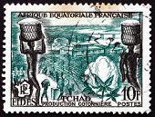 Postage Stamp Chad 1956 Cotton