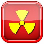 picture of radium  - Square shiny icon with yellow design on green background - JPG