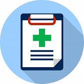 picture of prescription pad  - Vector Medicine Clipboard - JPG