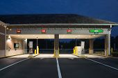 JACKSONVILLE, FL - MAY 13, 2014: A Regions Bank Drive Thru at night in Jacksonville. Regions Bank op