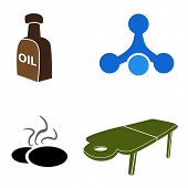 An image of massage icons.