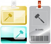 Mallet. Vector id cards.