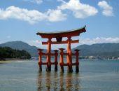 Itsukushima Torii at Miyajima Japan