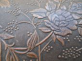 Close Up Texture Embossed Rose