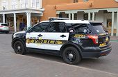 Santa Fe Police Department car.