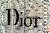 BANGKOK - APRIL 4   The sign of Dior at Dior store on Apr 4, 2014 in Suvarnabhumi Bangkok, Thailand