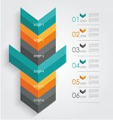 Minimal Infographics Or Step Banners Template In Arrow Style