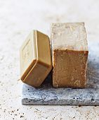 Two Bars of Organic Aleppo Soap (Syrian Laurel Soap)