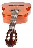 Fingerboard Of Classical Acoustic Guitar