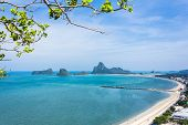 Scenic Bay Of Prachuap Khiri Khan In Thailand