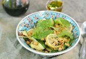 Chickpeas And Zucchini Salad.