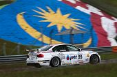 SEPANG, MALAYSIA - MAY 10, 2014: The BMW E90 car of Tin Sritrai takes to the track at the Thailand Super 2000 race of the Thailand Super Series Rd 1 in Sepang International Circuit.