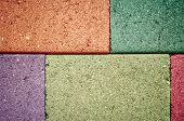 Colorful Of Concrete Wall Concrete Blocks.