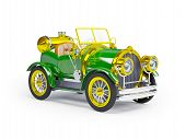 1910 green retro car