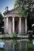 Rome Italy. Temple of Esculapio in Villa Borghese Garden