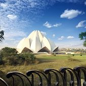 India. New Delhi Lotus temple.