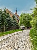 Historical St James Church in Sandomierz, Poland, part of the famous Pilgrim St James Routes