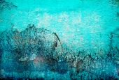 Grunge Abstract Turquoise Texture Background