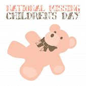 stock photo of child missing  - An abstract illustration of National Missing Children - JPG
