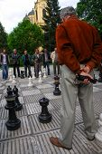 BOSNIA AND HERZEGOVINA, SARAJEVO - MAY 07, 2009: Chess Players in Sarajevo. Street Chess is one of t