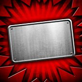 metal plate with ray background