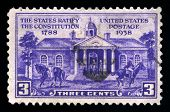The States Ratify The Constitution Us Postage Stamp