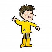 picture of attitude boy  - cartoon poor boy with positive attitude - JPG